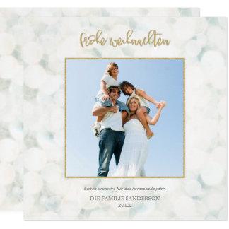 Or Moderne d'und de Frohe Weihnachten-Foto-Karte Carton D'invitation 13,33 Cm