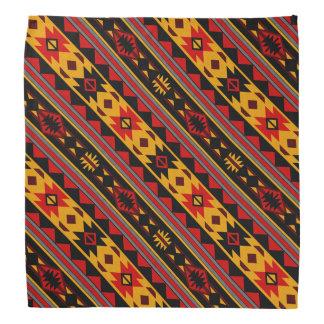 Or noir rouge audacieux de conception de sud-ouest bandana