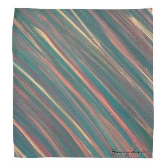 Or orange vert unique véritable de rouille barré bandana