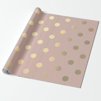 Or plus rusé en pastel de petite poudre rose de papier cadeau