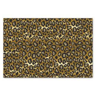 Or profond et poster de animal noir de léopard papier mousseline