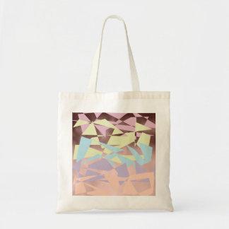 or rose de bloc élégant de couleur en pastel sac en toile