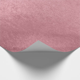 Or rose de faux moderne papier cadeau