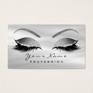 Or rose de soie grise de mèches de yeux de sourcil cartes de visite