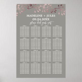 Or rose élégant et diagramme gris d'allocation des poster