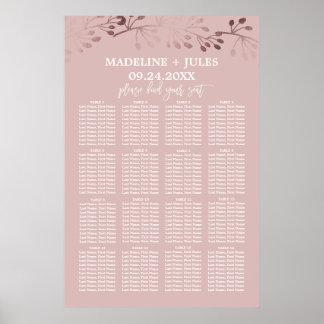 Or rose élégant et diagramme rose d'allocation des poster