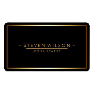 Or simple moderne professionnel noir élégant carte de visite standard
