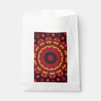 Or sur le mandala rouge sachets en papier