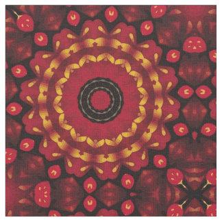 Or sur le mandala rouge tissu
