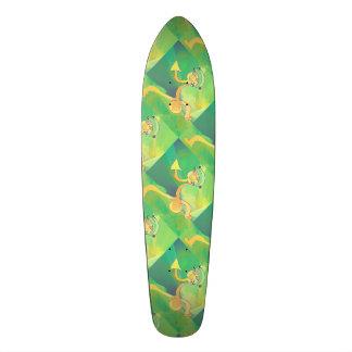 Or vert abstrait du jardinier 2 de danse de skateboard 21,6 cm