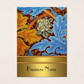 Or vintage 2 de William Morris d'impression de Cartes De Visite