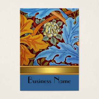 Or vintage de William Morris d'impression de carte
