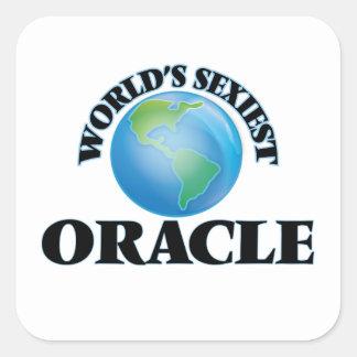 Oracle le plus sexy du monde autocollants carrés