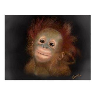 Orang-outan de bébé de Gunung Carte Postale