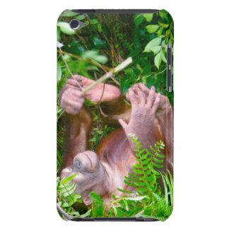 Orang-outan heureux de pose de yoga de bébé étui barely there iPod