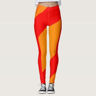 orange abstraite et legging rouge