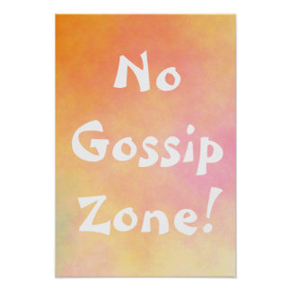 Orange aucune zone de bavardage poster