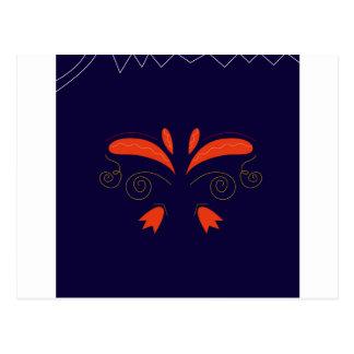 Orange avec le magasin bleu Ethno d'ornements de Carte Postale