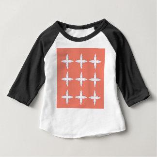 Orange blanche de mandalas de luxe t-shirt pour bébé