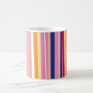 Orange bleue sur les rayures roses mug