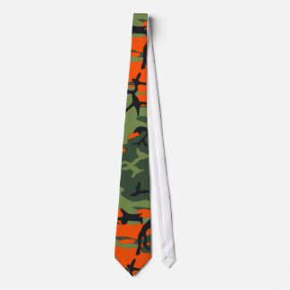 Orange Camo de chasseur Cravates