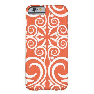 Orange celtique de motif vintage de damassé de coque iPhone 6 barely there