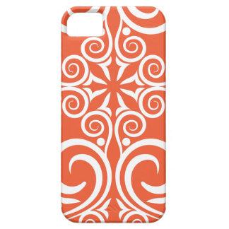 Orange celtique de motif vintage de damassé de coques iPhone 5