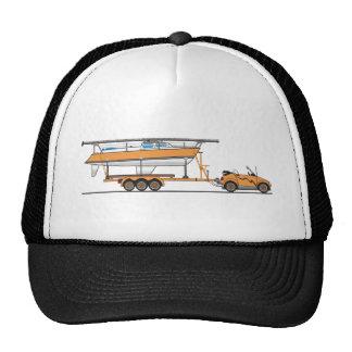Orange de bateau à voile de voiture d'Eco Casquette