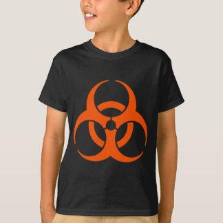 orange de biohazard t-shirt