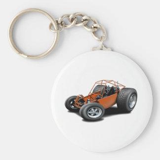 Orange de buggy des sables porte-clé rond