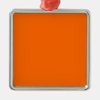 Orange de couleur de Web de code du sortilège Ornement Carré Argenté