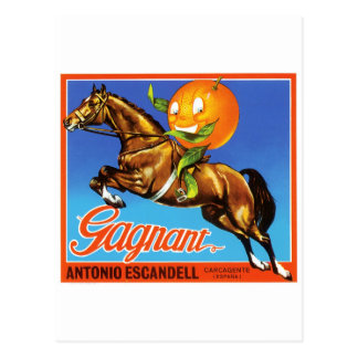Orange de Gagnant Carte Postale