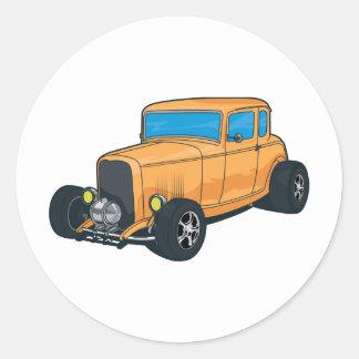 Orange de hot rod autocollant