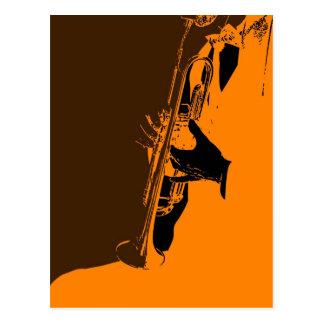 Orange de jazz cartes postales