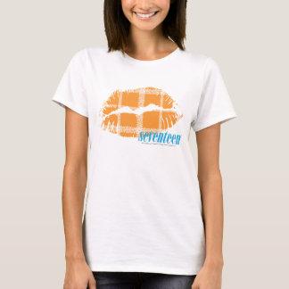 Orange de plaid t-shirt