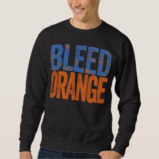 Orange de soutirage sweatshirt