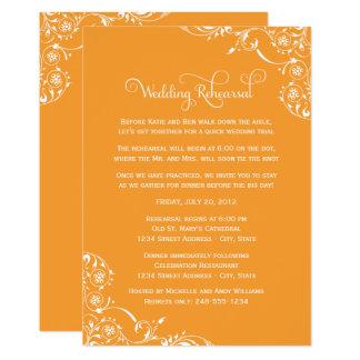 Orange des invitations | de répétition et de dîner