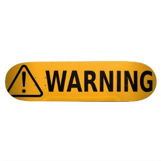 Orange d'étiquette de mise en garde de planche à plateau de skateboard