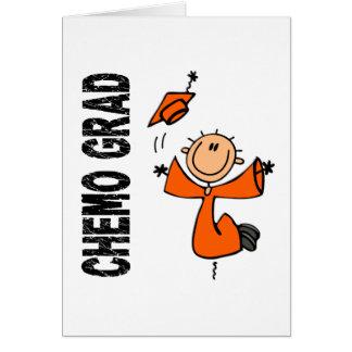 Orange DIPLÔMÉ 1 (leucémie) de CHIMIO Carte De Vœux
