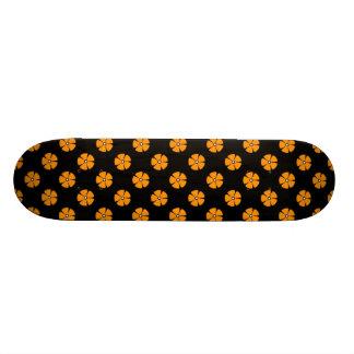 Orange du motif de fleur 2 skateboards personnalisés