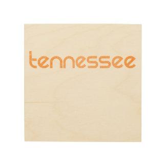 Orange du Tennessee Impression Sur Bois