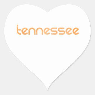 Orange du Tennessee Sticker Cœur