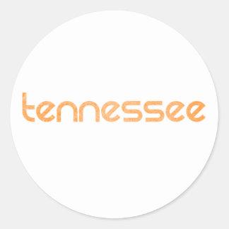 Orange du Tennessee Sticker Rond