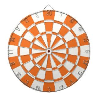 Orange et blanc de mandarine jeux de fléchettes