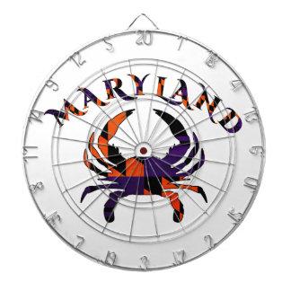 Orange et pourpre de drapeau de crabe de Maryladn Jeu De Fléchettes