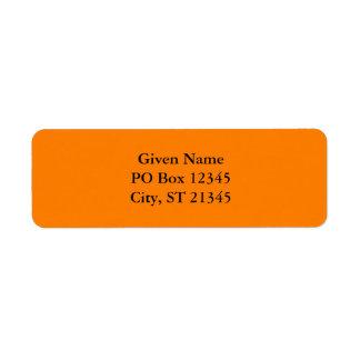 Orange Étiquette D'adresse Retour