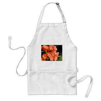 orange flowers tablier