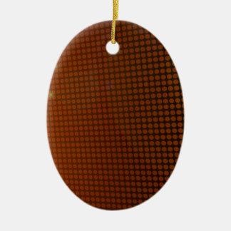 orange halo ornement ovale en céramique