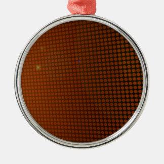 orange halo ornement rond argenté