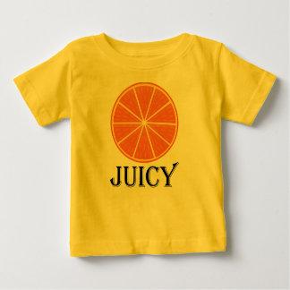 Orange juteuse - T-shirt fin du Jersey de bébé